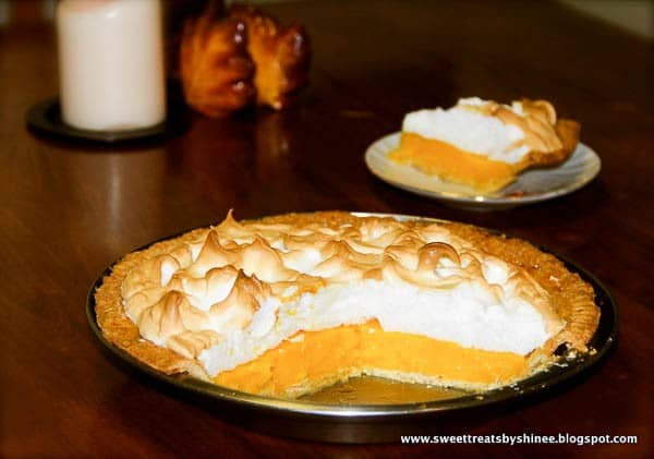 Flaky buttery pie crust filled with sweet orange curd and topped with fluffy tall meringue. So irresistible!