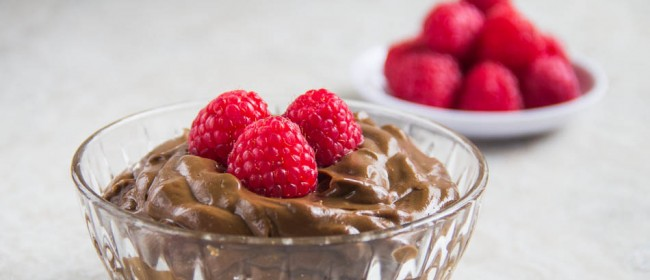 You are here: Home / Desserts / Avocado Chocolate Mousse