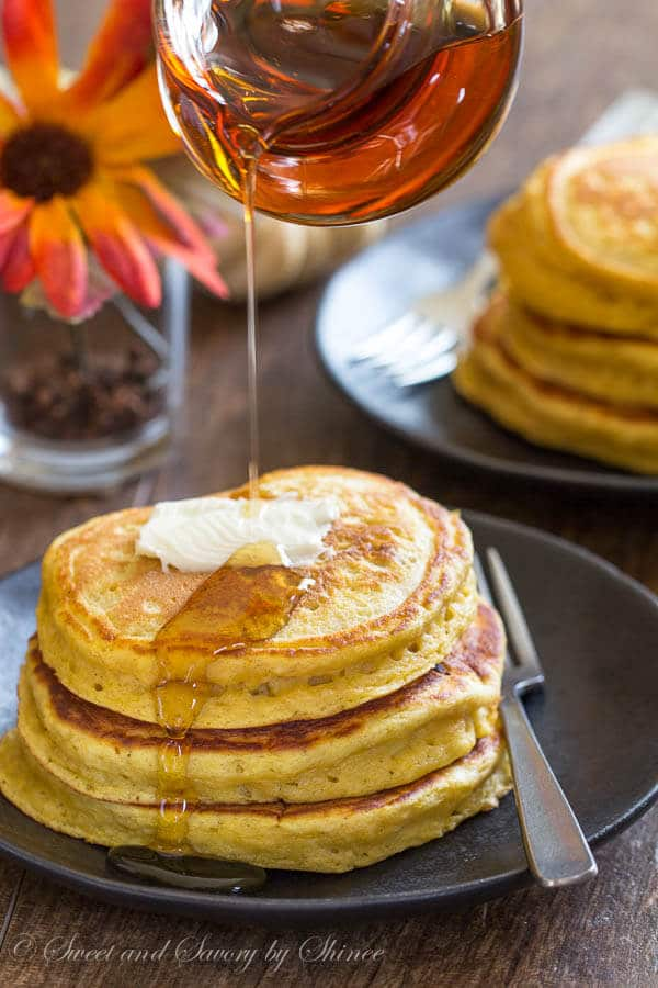 Extra Fluffy Pumpkin Pancakes ~Sweet & Savory by Shinee
