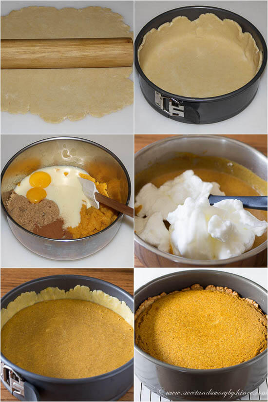Pumpkin Mousse Pie, step by step