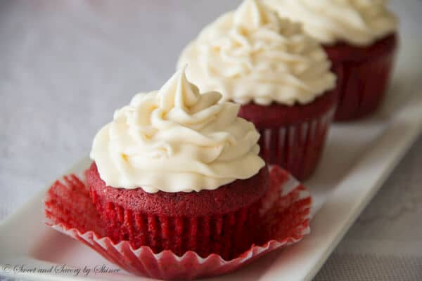 Classic red velvet cupcakes with velvety texture and buttery soft ...