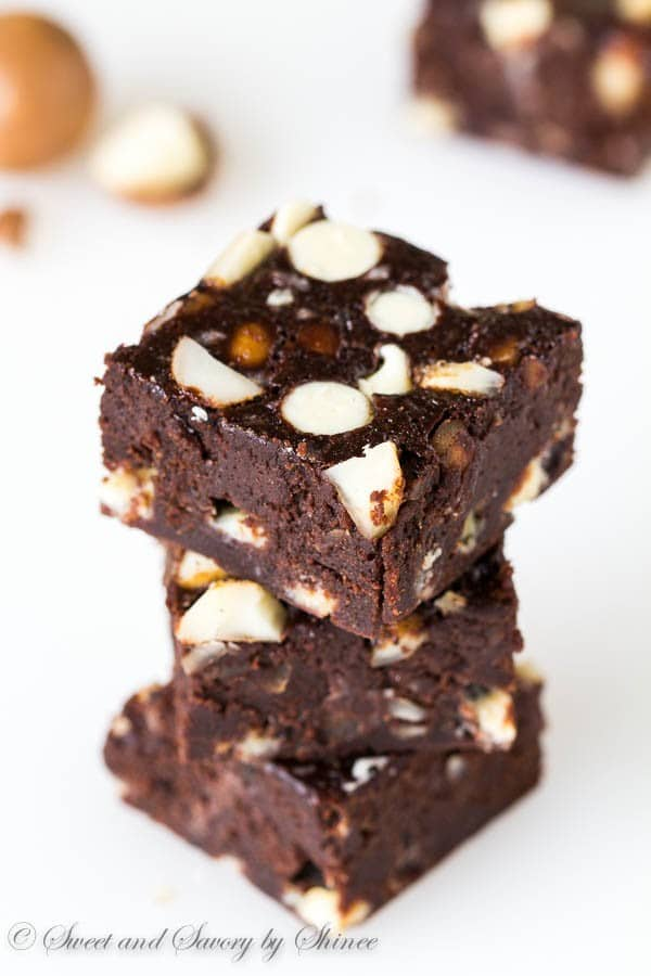 Triple Chocolate Stout Brownies with Mac Nuts ~Sweet ...