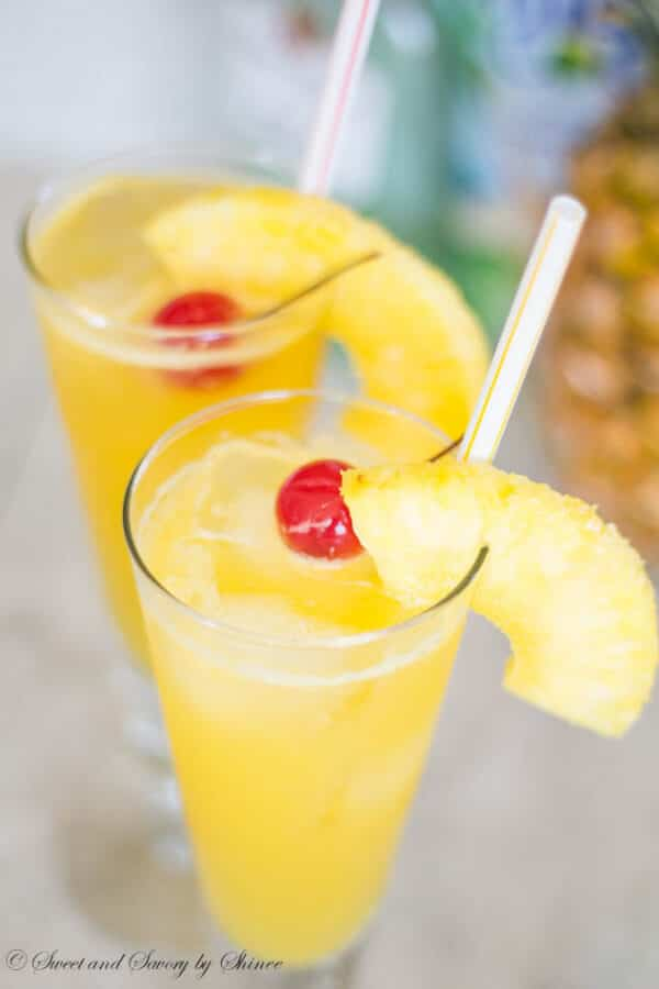 Bubbly, fruity, tropical, this pineapple coconut spritzer is a naturally sweetened thirst-quencher and party-pleaser.