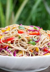 Asian Buckwheat Noodle Salad