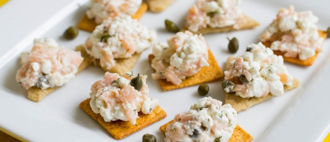 Smoked Salmon Cottage Cheese Bites