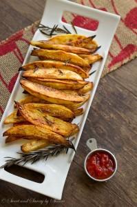 Garlic Rosemary Baked Steak Fries-3 ~Sweet & Savory by Shinee