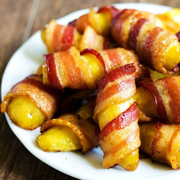 Bacon and fingerling potatoes are all you need for these finger-licking appetizers. Savory little bites full of flavor!