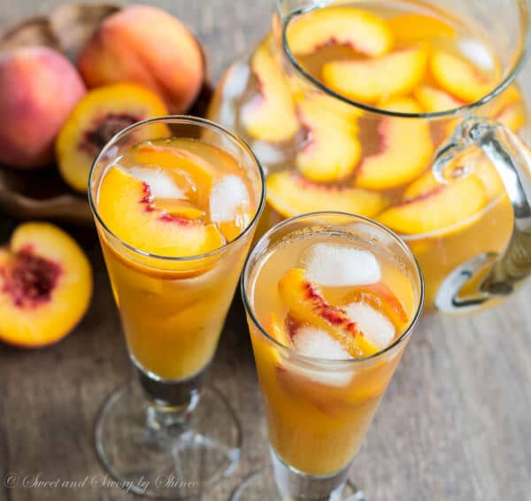 A tall glass of ice-cold peach iced tea is just what you need to quench your thirst on a hot day. Honey sweetened peachy iced tea perfection!
