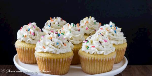 Vanilla Bean Cupcakes ~Sweet & Savory by Shinee