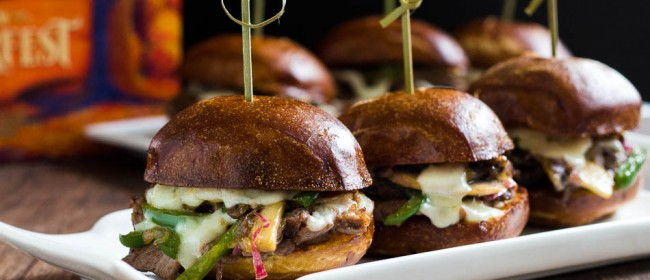 Philly Cheese Steak Sliders, +Giveaway