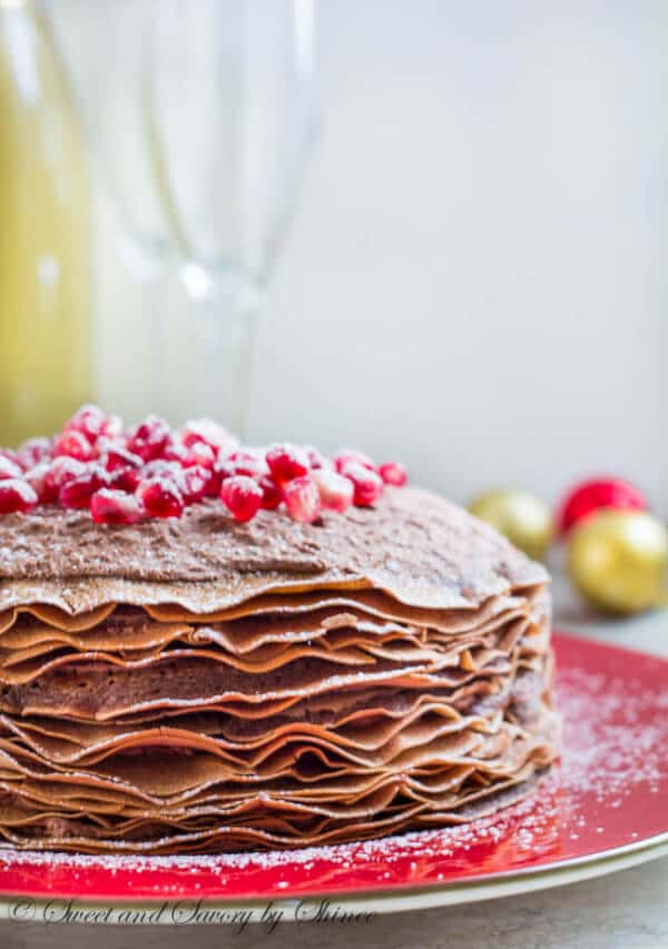 dump it cake chocolate beet cake spicy chocolate mousse crepe cake