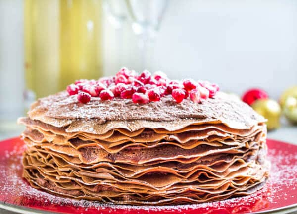 mousse crepe cake is made of 20+ layers of delicate chocolate crepes ...