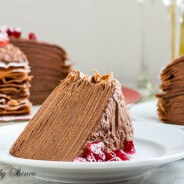 Chocolate Mousse Crepe Cake-8