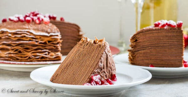 Chocolate Mousse Crepe Cake ~Sweet & Savory by Shinee