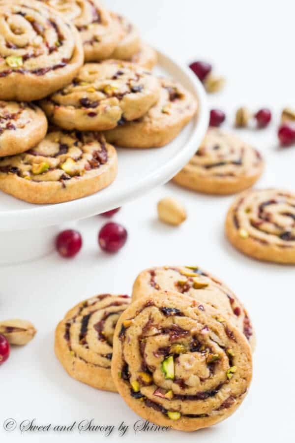 My family's favorite pinwheel cookies. Soft and chewy cookies filled with sweet and fruity filling and crunchy nuts.