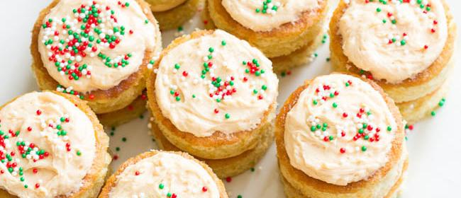 Salted Caramel Mini Layer Cakes