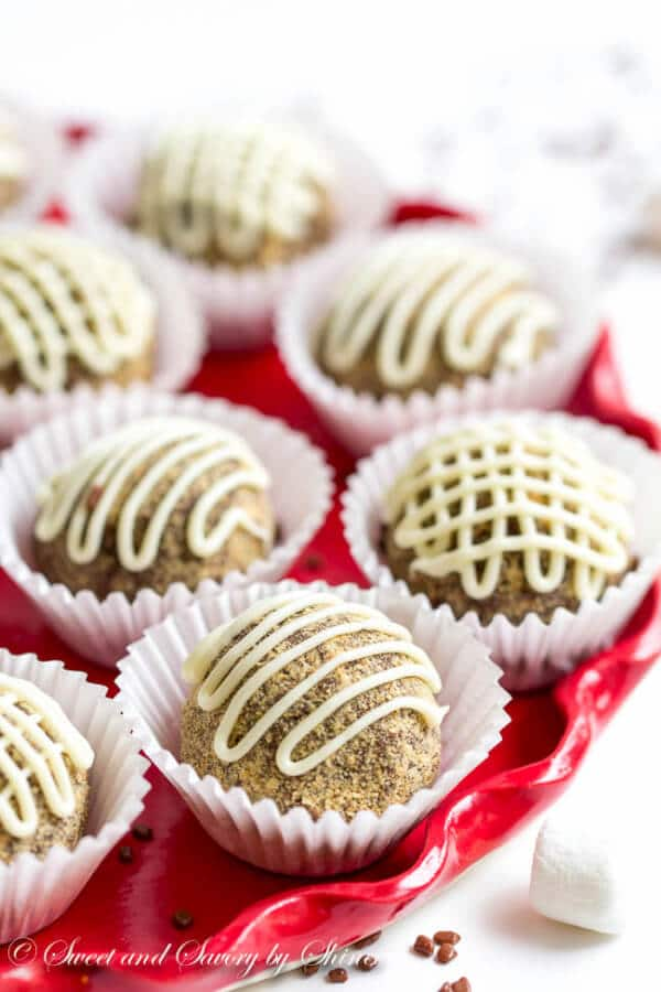These fudgy little s'mores truffles are rich and chocolate-y. With just under 5 ingredients, they are super easy to make and indulge!
