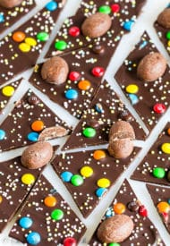 Easter Candy Chocolate Bark-2