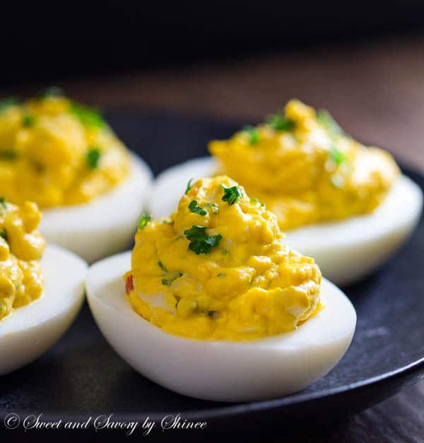 These creamy, rich lobster deviled eggs are loaded with tender lobster ...