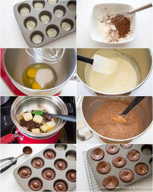 Mini Caramel Lava Cakes- step by step photo instructions
