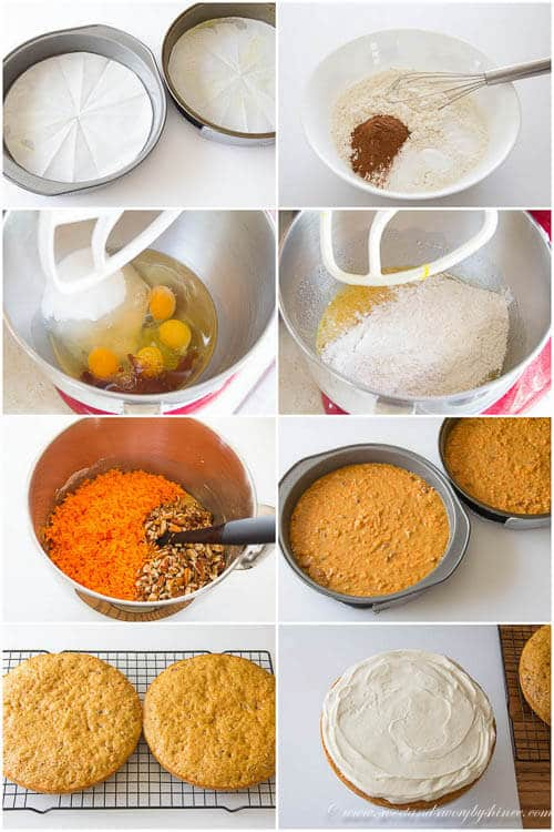 Layered carrot cake- step by step photo instruction