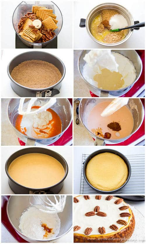 Carrot Cheesecake- step by step photo directions