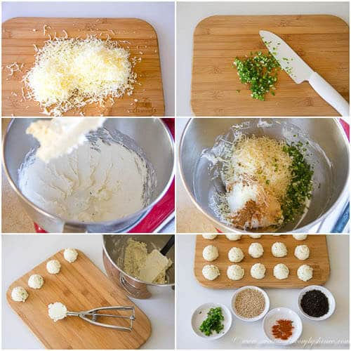 Mini cheese balls- step by step photo direction