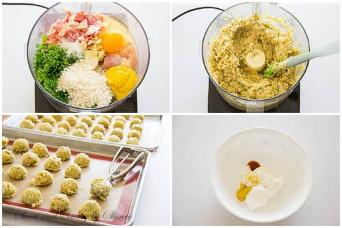 Bacon Chicken Meatballs - step-by-step photo tutorial