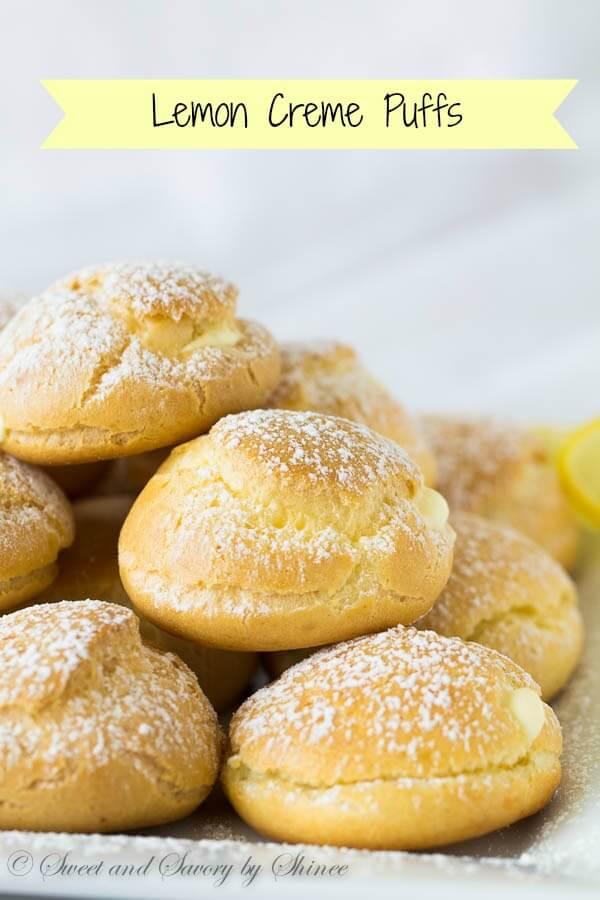 Lemon Crème Puffs ~Sweet & Savory by Shinee
