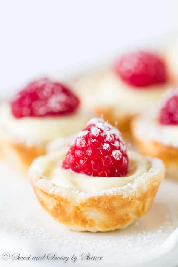 Lemon Raspberry Tartlets