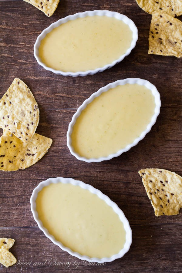 Silky smooth, rich and spicy, this cheddar cheese dip is addicting! Bring out the tortilla chips and dig in.