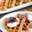 Whole Wheat Waffles with Figs-1