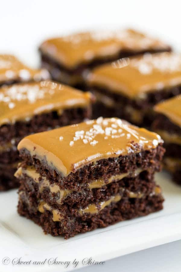 Mini Chocolate Caramel Layer Cakes ~Sweet & Savory by Shinee
