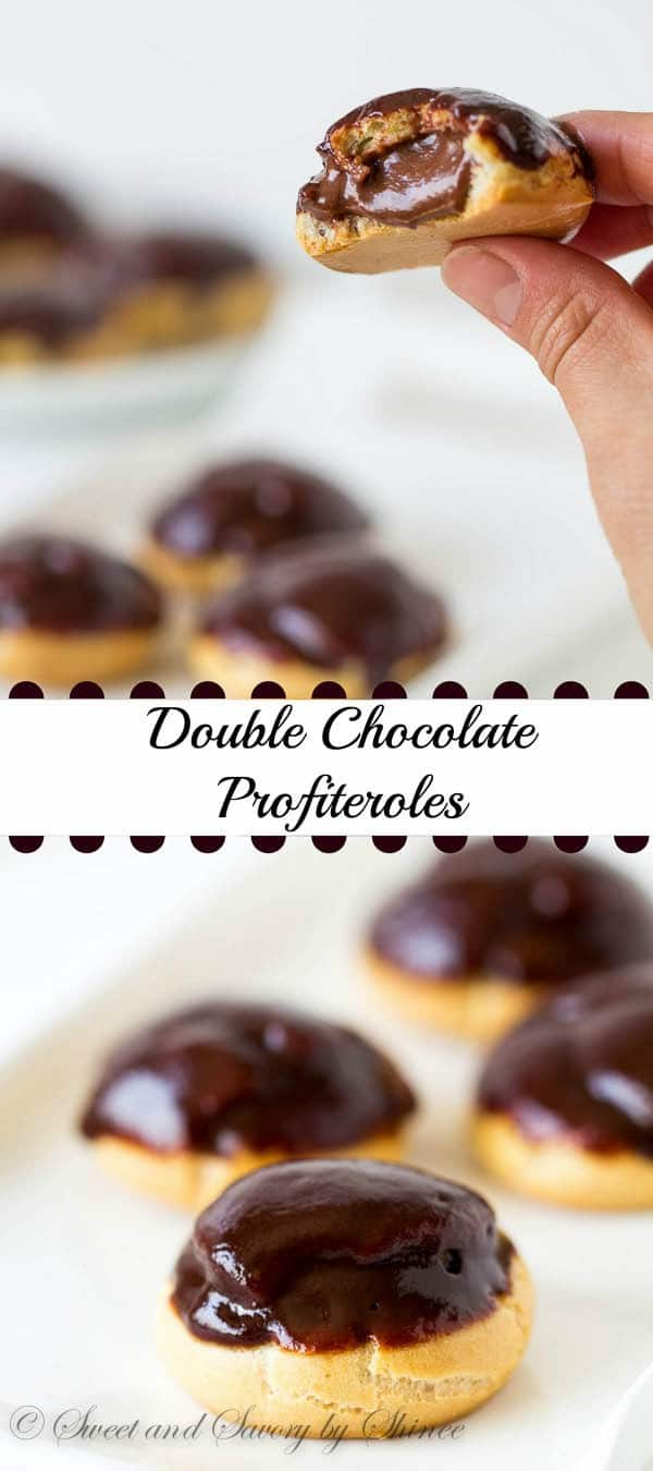 Simple cream puffs filled with light Nutella whipped cream and topped with glossy chocolate ganache. Light and flavorful dessert for all occasions!
