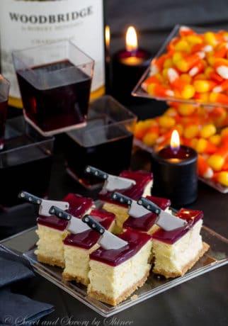 Cheesecake Bars with Wine Gelée-2