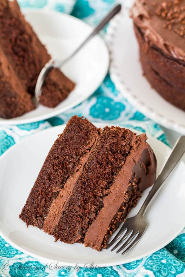 Ina's Chocolate Cake with Mocha Frosting ~Sweet & Savory by Shinee