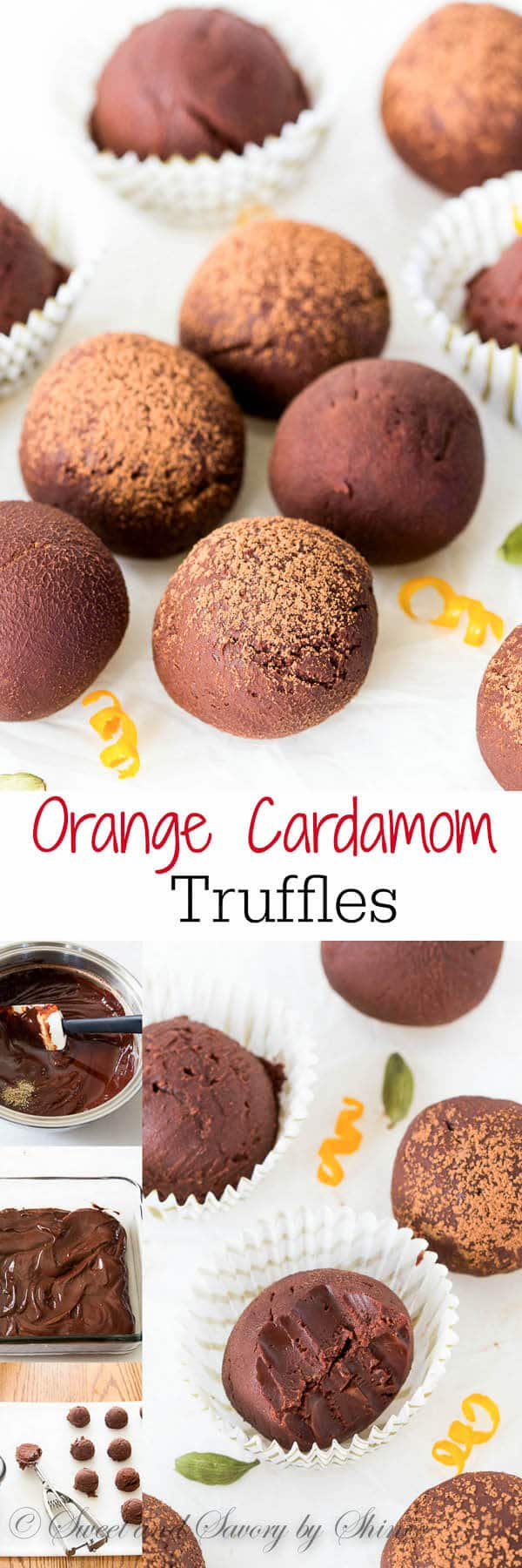 , yet delicate flavors, these dark chocolate orange cardamom truffles ...