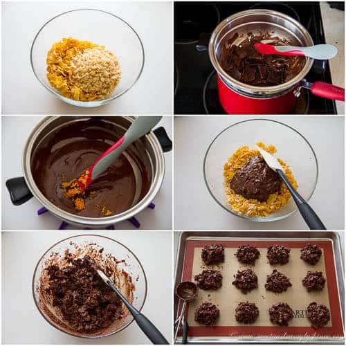 Orange infused chocolate crisps- step by step photo tutorial