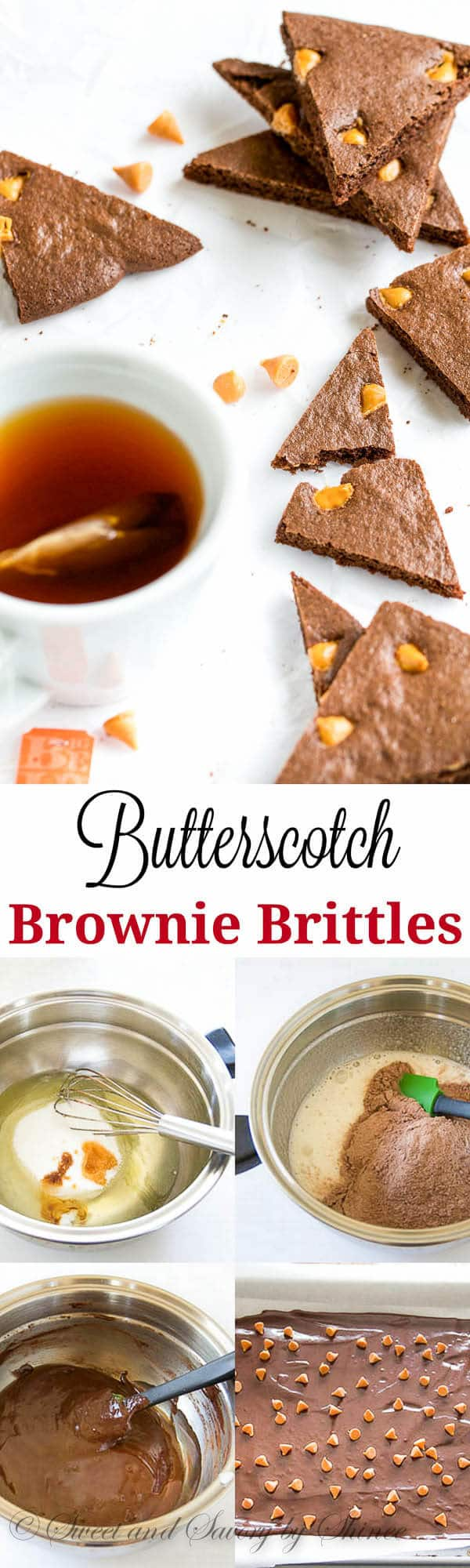 Crispy n' chewy butterscotch brownie brittles from scratch with extra boost of flavor! Totally addicting treats for your morning coffee.
