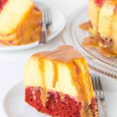 Magic Red Velvet Flan Cake-2