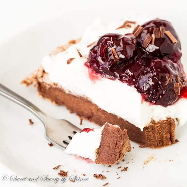 Melt-in-your-mouth light Chocolate Pavlova topped with indulgent sweet ...