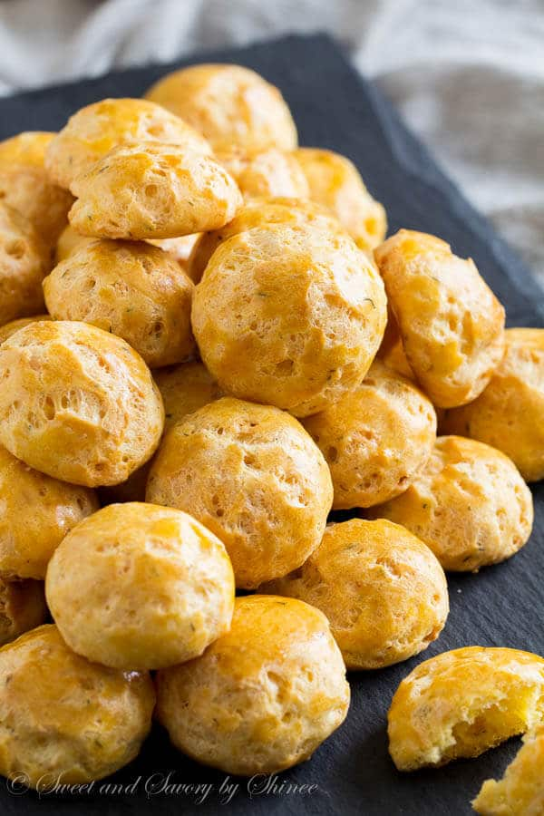 Light and crisp, loaded with aged havarti, these cheese puffs are outrageously addicting! Give them a try.