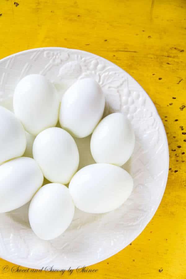 Farm fresh hard boiled eggs- Learn my tip and tricks on how to cook and peel fresh hard boiled eggs.