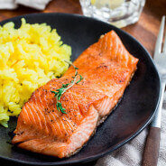 Pan-fried Steelhead Trout w-Lemon Butter Sauce-1