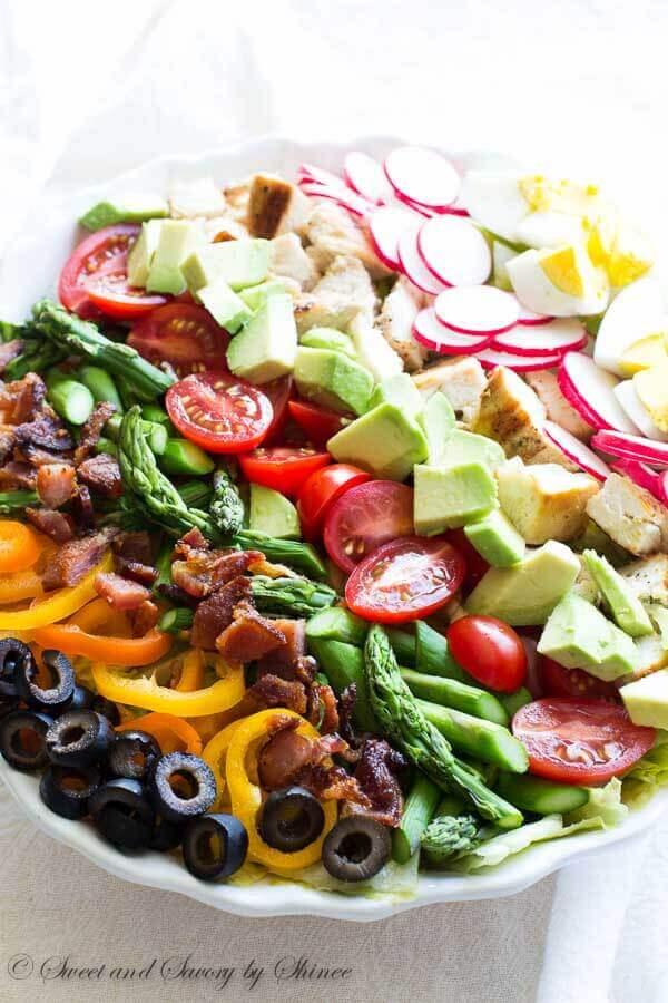 Classic Spring Cobb Salad ~Sweet & Savory by Shinee