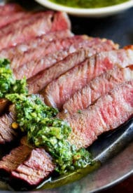 Grilled Steak with Chimichurri Saucec-2
