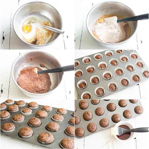 Mini Kahlua Cupcakes, step-by-step photos