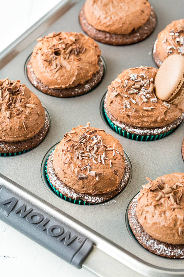 These perfect chocolate cupcakes with chocolate mousse frosting is pure indulgence. Unbelievably easy to make and perfect for any occasion!