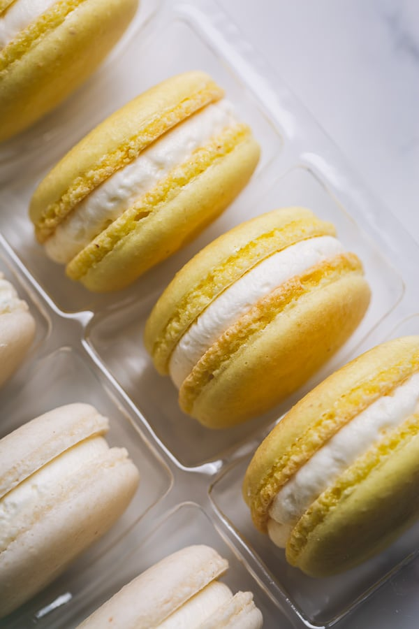 This basic macaron recipe is perfect for beginners. In this post, you'll find all my tips and tricks for perfectly full shells with pretty little feet and smooth tops, as well as my detailed video tutorial to walk you through the entire process! #frenchmacarons #macaronrecipe