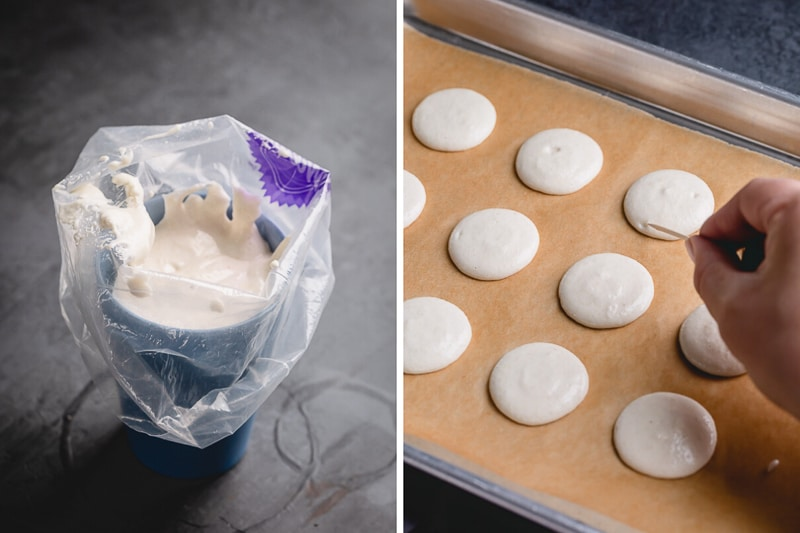 How to make french macarons from scratch with step by step photos.
